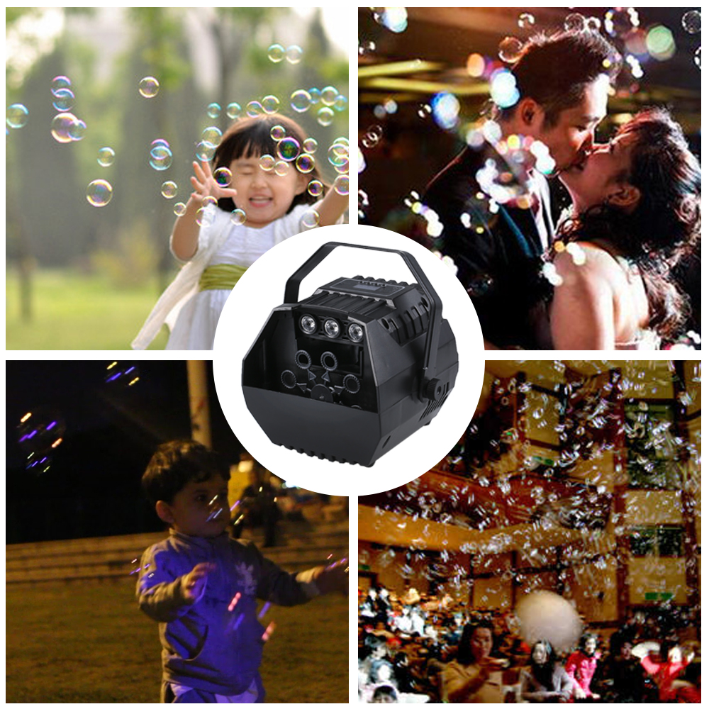 Image 4 - LED Laser Stage Lights Wireless Remote Control Bubble Machine Automatic Romantic Effect Light for Wedding Parties Festivals-in Stage Lighting Effect from Lights & Lighting