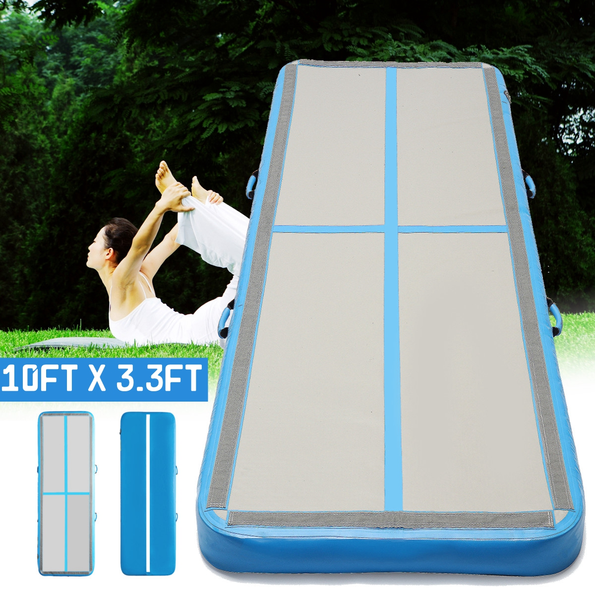 AirTrack 100x300x10 см надувные Дешевые гимнастические матрасы тренажерный зал в стиральной машине Air следить пол акробатика Air трек для продажи