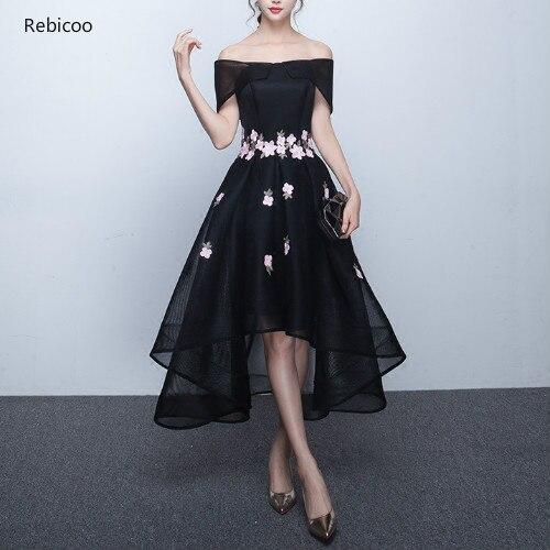 Appliques court avant long dos femmes robes de soirée hors de l'épaule taille haute élégante robe de reconstitution historique pour la fête de bal
