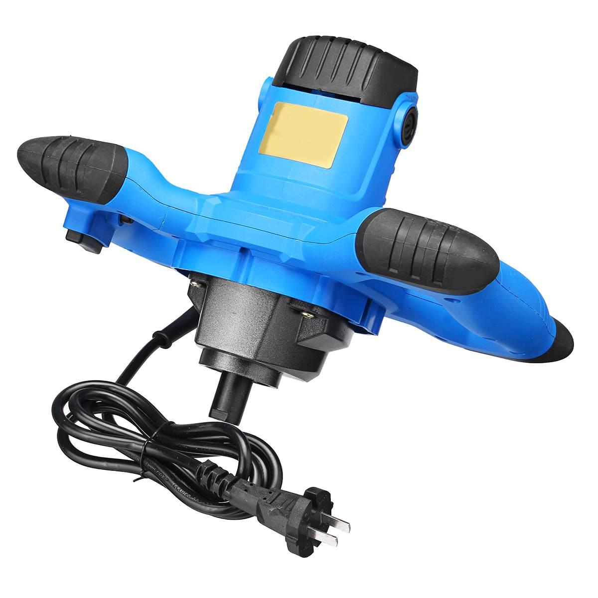 2000 w 800 rpm 220 v 6 Velocidade Paddle Mixer Agitador Elétrico Industrial Azul Handheld Máquina Para A Pintura De Cimento De Concreto argamassa Cola