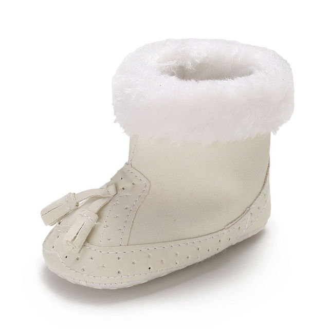 2019 0-12M Tassel warm Baby Girl Boy boots Snow Boots Winter Warm Booties Infant Toddler Newborn Crib Shoes Fashion Style 5