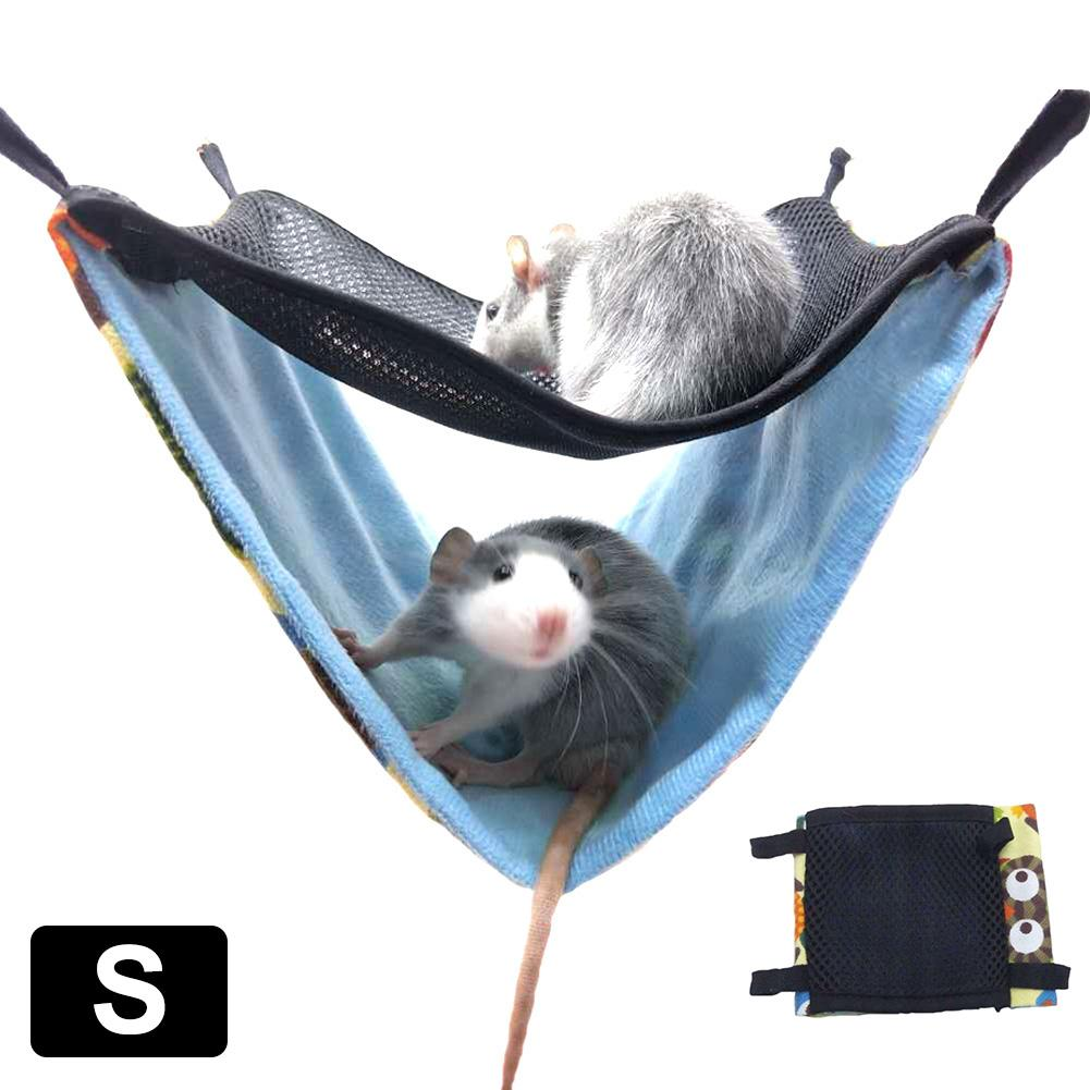 Pet Hammocks Hanging House Bed Nest Hammock Double Layer Breathable Mesh Hammock Small Pet Cotton Nest Cage Accessories in Cages from Home Garden