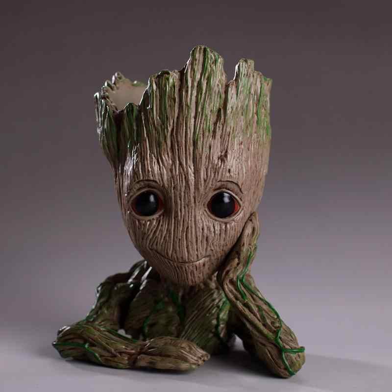 Doniczka Baby Groot doniczka słodka zabawka uchwyt na doniczkę pcv bohater Model dla dzieci drzewo człowiek ogród doniczka na kwiaty dla dzieci doniczka