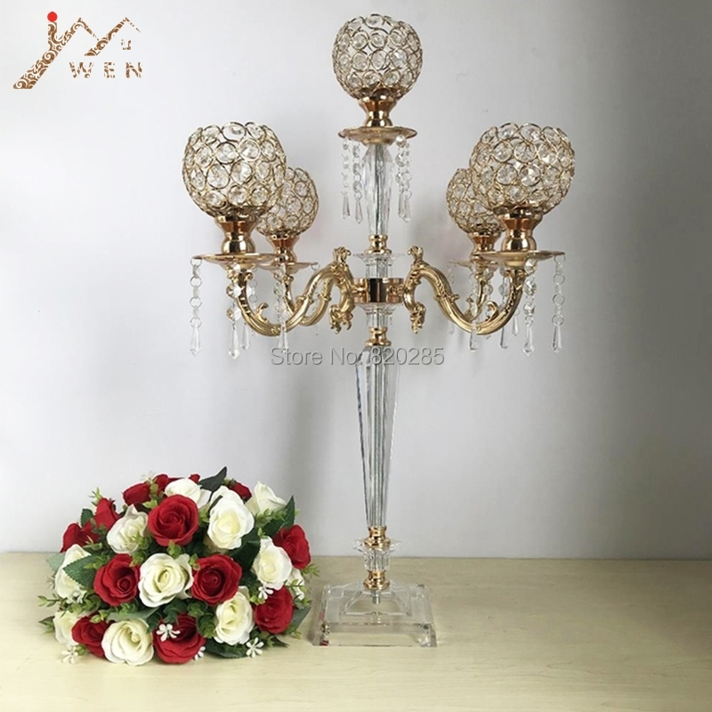 Acrylic Candelabras Luxury Candle Holders With Crystal Pendants Marriage Candlestick Wedding Table Centerpieces Home DecorAcrylic Candelabras Luxury Candle Holders With Crystal Pendants Marriage Candlestick Wedding Table Centerpieces Home Decor