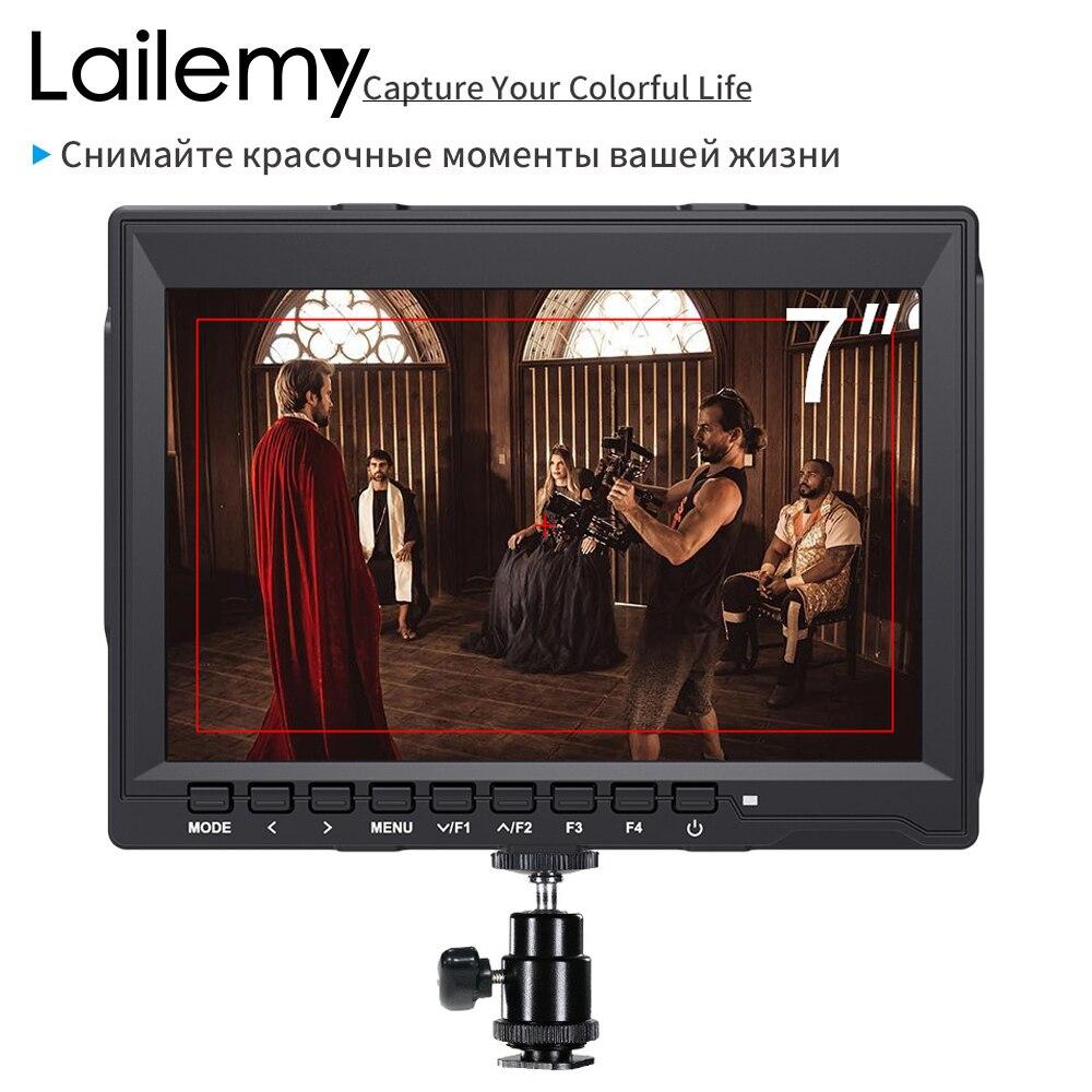 Lailemy V7 7 pouces Champ Moniteur 4 K HDMI Caméra DSLR Moniteur LCD HD 1280x800 IPS Vidéo Aider pour Appareil Photo Nikon Sony Canon Cardan