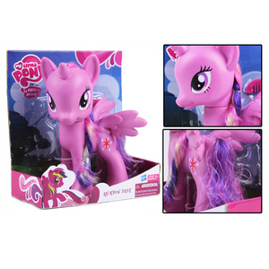 Image 4 - 22cm My Little Pony Toys Rarity Apple Jack Rainbow Dash Princess Celestia Action Figure Collection Model Doll For Kids Gifts