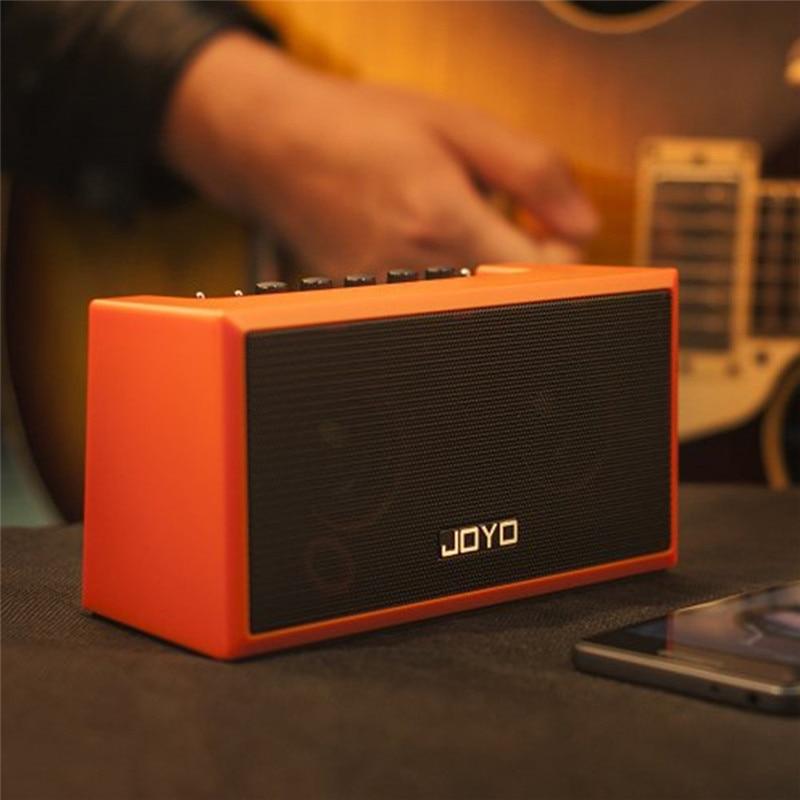Amplificateur de guitare Portable 2 en 1 pédale d'effet de distorsion intégrée Mini haut-parleur d'ampli Bluetooth pour guitare électrique acoustique basse