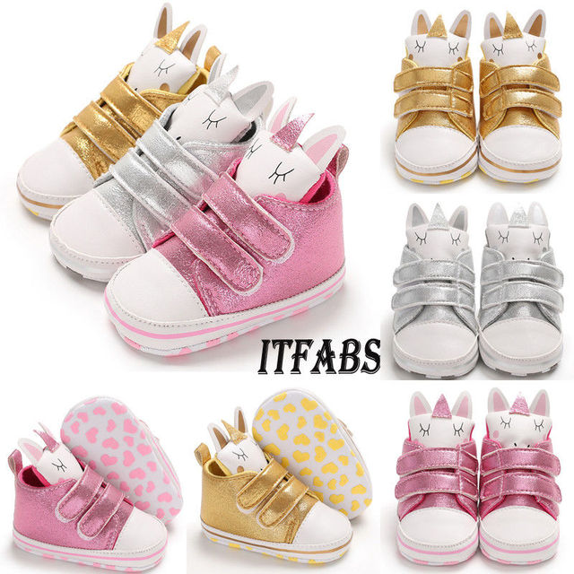 da49144051bfc Infant Toddler Baby Shoes Girl Unicorn Hook Soft Sole Crib Baby Moccasins  Sneaker Casual Newborn Shoes 0-18 Months