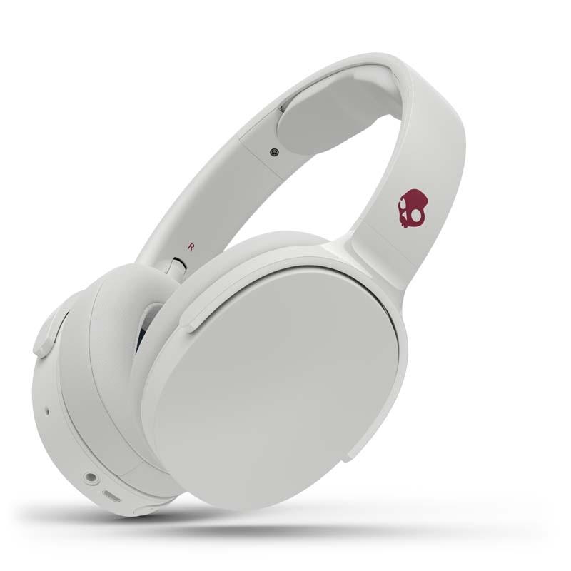 Skullcandy Hesh 3-inalámbricos micrófono y con Bluetooth Auriculares de diadema, Gris/Carmesí