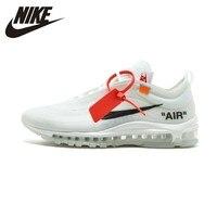 NIKE Air Max 97 OG Off White Mens Cushion Running Shoes Sport Sneakers Original New Arrival #AJ4585 100
