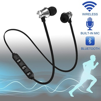 XT-11 Wireless In-ear Headphones Outdoor Sport Headsets Stereo Music Earphone Magnetic Suction Built-in Microphone Line Control