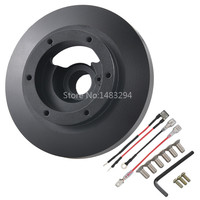 Black Racing Steering Wheel Short Hub Adapter Boss Kit Fit For BMW E38 M3 Z3 325 318 328 850ci 840i