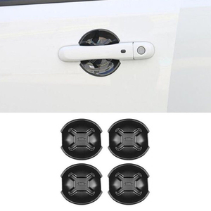 Image 3 - 4x ABS Black Car Door Handle Cover Bowl Trim For Jeep Renegade 2015 2018 Outlet Edge Scratch Guard Protector Accessories