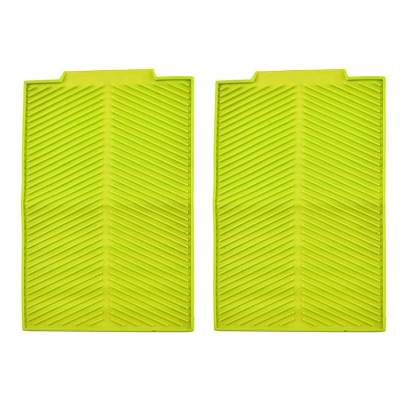 2 Pcs Insulation Pad Non Slip Heat Resistant Rectangle Silicone