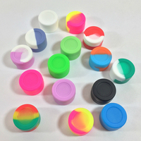 100pcs 3ml Silicone Container Nonstick Storage Jar Oil Wax Storage Jars Mixed Colors