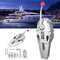 Handle Engine Control Box Top Mount Marine Boat Single Lever Dual Action Built in Friction 316 Stainless Steel 45.5x15x12cm