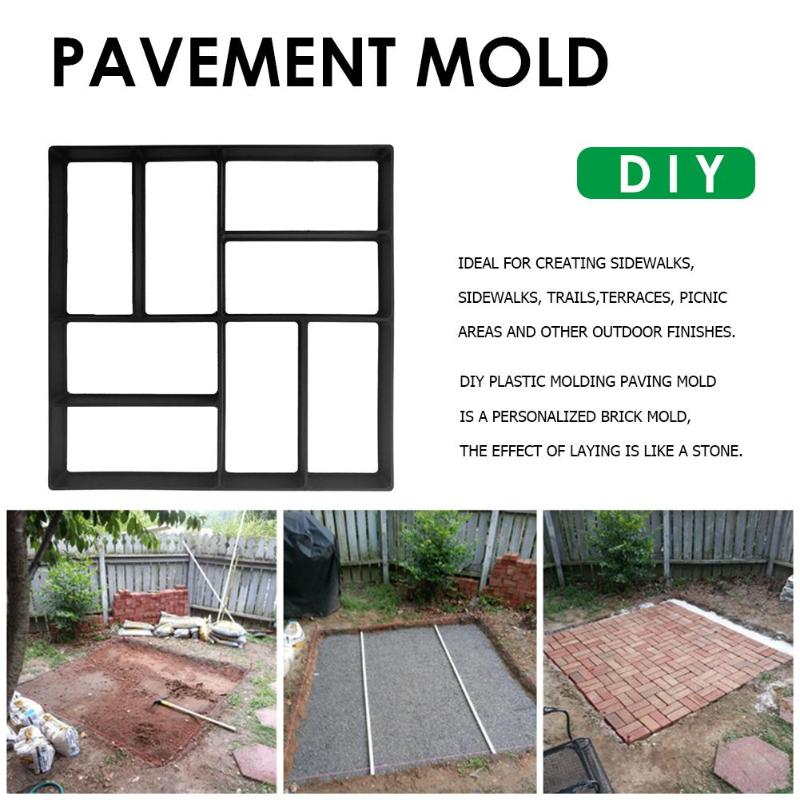Garden Walk Pavement Mold DIY Manually Paving Cement Brick Floor Road Concrete Stepping Driveway Stone Path Plastic Molds