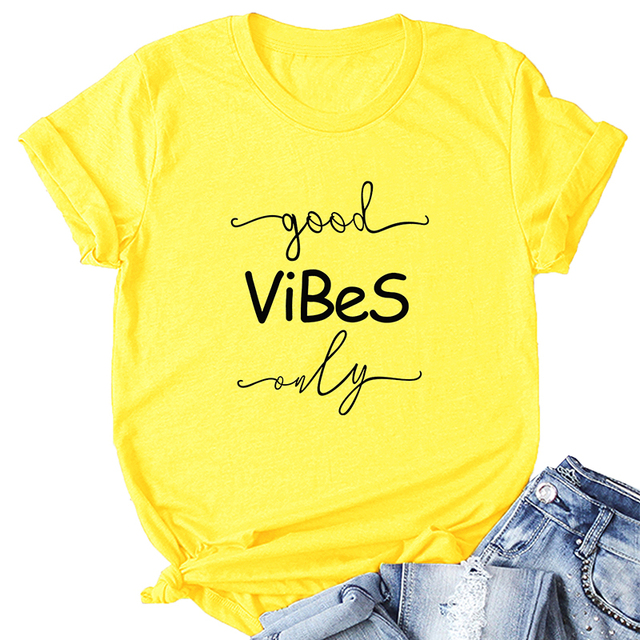 "100% Cotton ""Good Vibes Only""  T-Shirt"