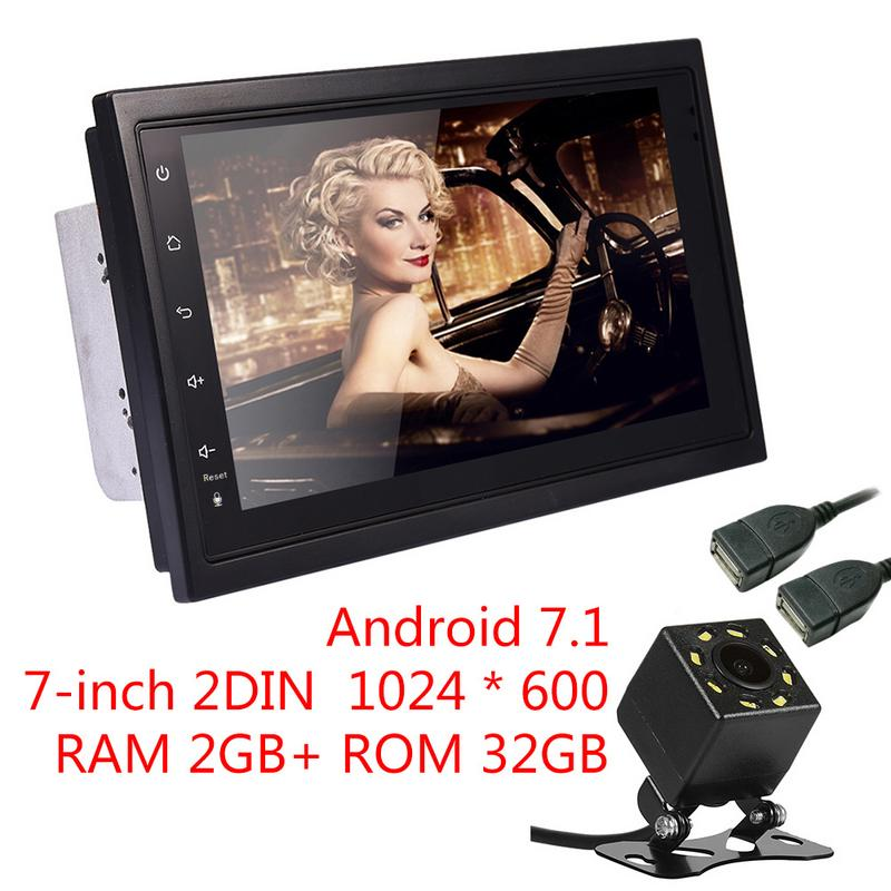 Universal 7-inch 2DIN  Android 7.1 Car Multimedia Player GPS Navigator HD Reversing Audio and Video Phone Mirror Link FM Radio