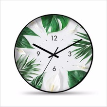 New 3D Wall Clock INS Nordic Personality Simple Wall Clock 35cm Silent Movement Duvar Saati For Home Decoration Metal Clocks