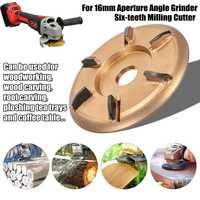 90mm H16 Digging Grinder Wood Turbo Plane Woodworking Tools Attachment Milling Cutter Tool For 16mm Aperture Angle Grinder