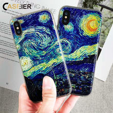 CASEIER Phone Case For iPhone 6 6s 7 8 Plus Soft TPU Ultra-thin Almond Blossom Cove X 5 5s SE Shell Capinha Capa