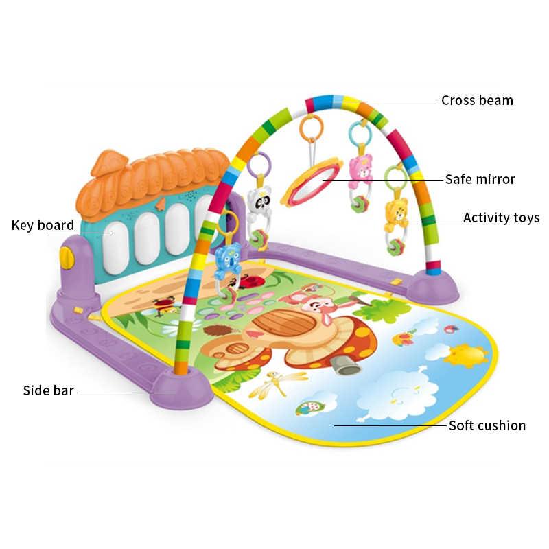 Новый детский Малыш Детские развивающие игры игровой коврик для пианино с мелодиями погремушка музыкальные плюшевые мягкие игрушки зеркало наполнение хлопок животик время мат