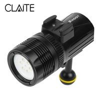 CLAITE 1500Lumen LED Diving Flashlight XM L R3 Underwater Photography Light Zoomable 4 Modes LED Scuba Flashlight