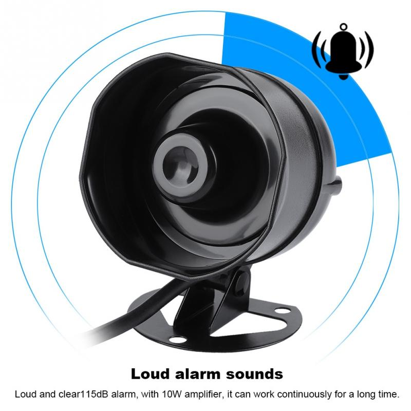 Electric Sound Horn Loud Speaker Truck Warehouse Alarm Siren Support MP3 Playback SD