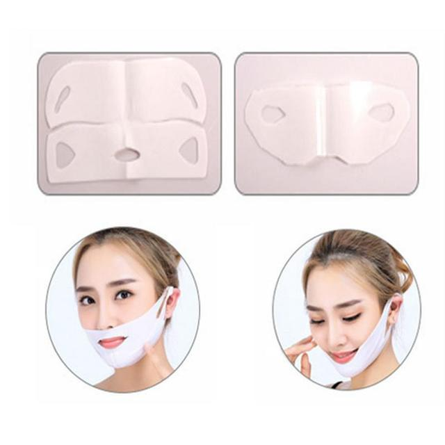4D Double V Face Hanging Ear Face Paste Hydrogel Mask Lifting Firming Thin Masseter Double Chin Mask V Shape Face Care Slim Mask 4