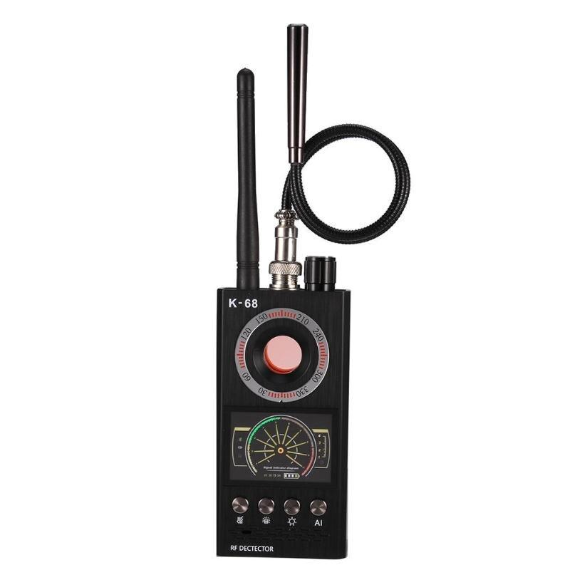 Caliente K68 señal inalámbrica Detector RF Bug Finder Anti Eavesdroped Detector Anti Candid Camera GPS Tracker localizador Dropshipping. exclusivo.