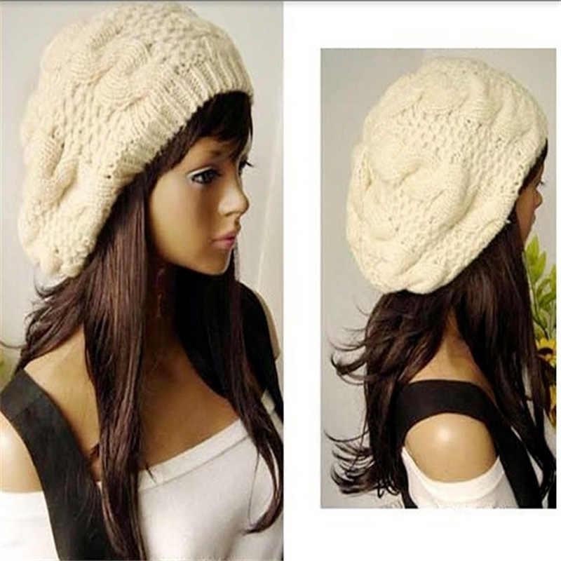 NIBESSER Trikot Hut Shose Frau Motorhaube Baggy Beret Ski Kappe Mode Winter Warme Hüte für Mädchen Die Nacht Vor Weihnachten