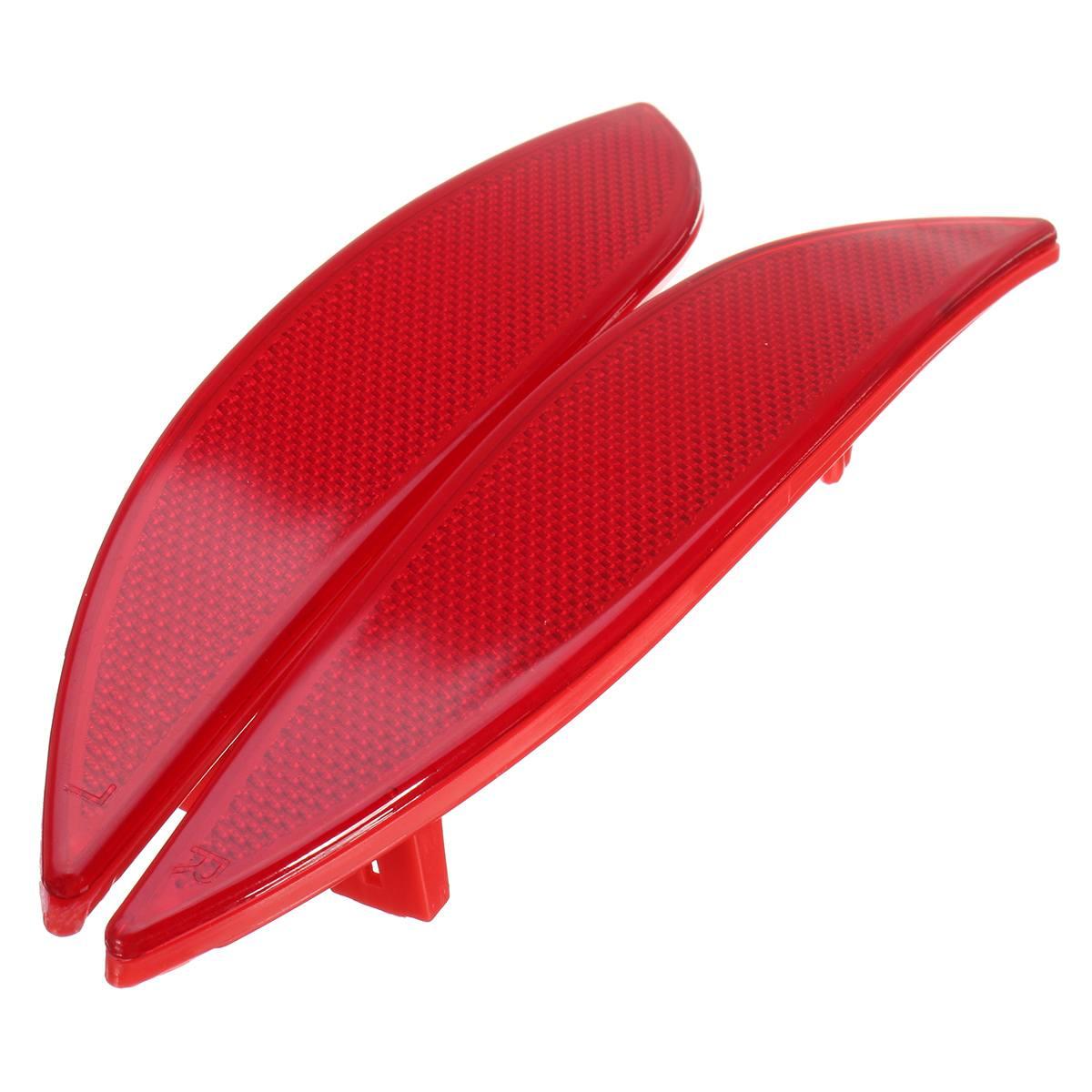 For Renault Megane MK3 Red Car Rear Bumper Reflector Light Lens 3804 Left Right Side