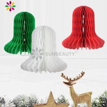 Pack Of 3pcs 16cm Tall Christmas Decoration Honeycomb Jingle Bell For Xmas Party Home