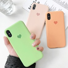 2019 Ultra Soft Liquid Silicone Case for iPhone XS MAX XR X Love Heart Phone Cover 7 plus 8 6 6s