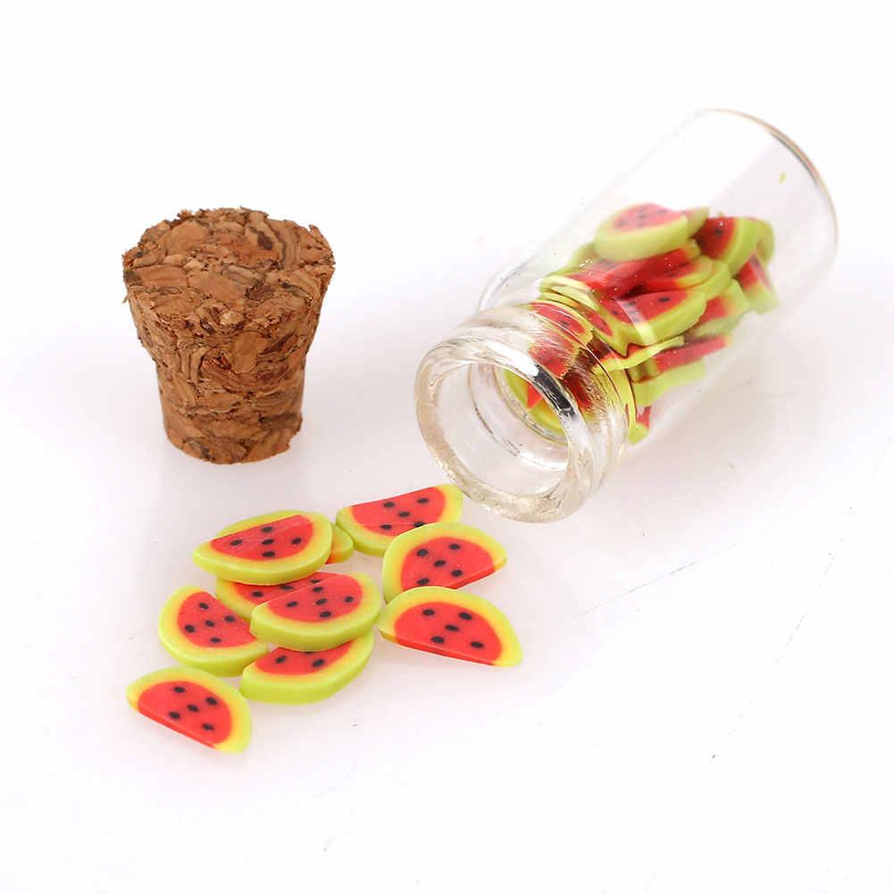 Mini Dollhouse Food Mini Doll Food Scale mini fruit vegetable bottle Dollhouse Miniature Toy Doll Food Kitchen Accessories