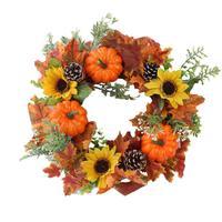 Хэллоуин День благодарения Тыква венок на дверь отделка двери кольцо искусственный венок цветок звено день украшения праздничные вечерние...