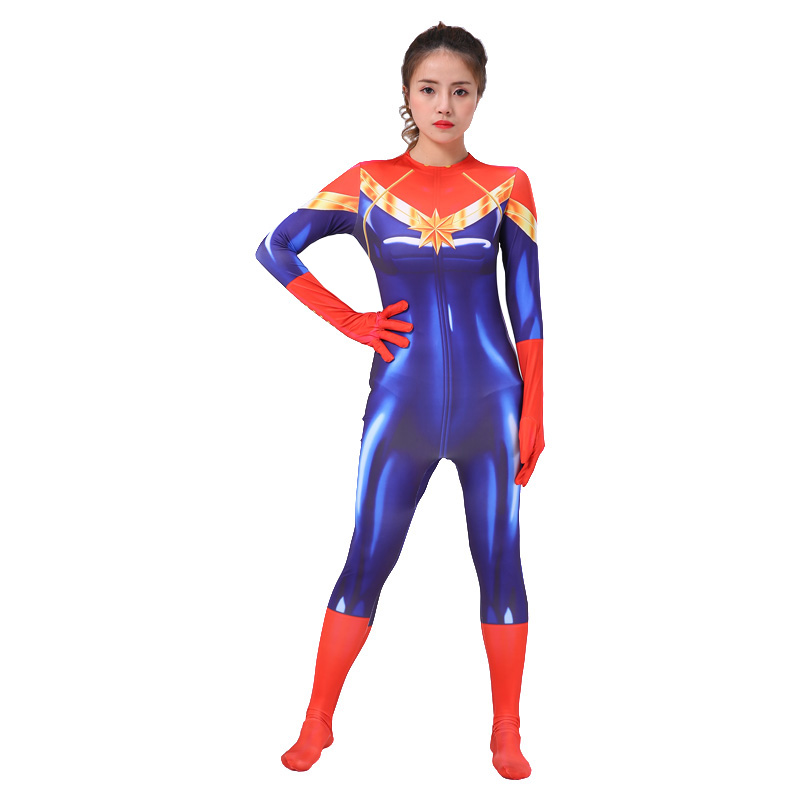 New Arrival Captain Marvel Cosplay Costume Women Children -4553