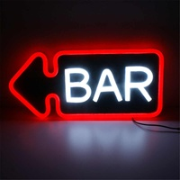 PVC BAR Neon Sign LED Light Handmade Visual Artwork Bar Club Wall Light Lamp Decoration Lighting Neon Bulbs Board 48*25*3cm