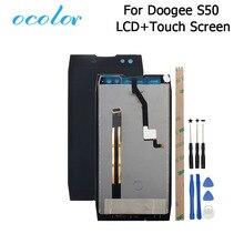 Ocolor para doogee s50 display lcd e tela de toque digitador assembléia substituição com ferramentas + adesivo para doogee s50 telefone