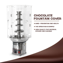 ITOP Commercial Chocolate Fountains Cover PVC Acryl Lids For 4/5/6/7 Tiers Waterfall Machine Tools
