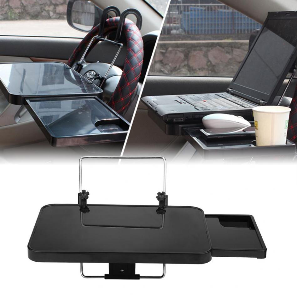 Portable Mini Car Laptop Stand Foldable Car Back Seat Steering Wheel Mount Notbook Tray Table Food Drink Holder Stands New