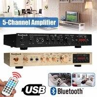 bluetooth 298BT Power Amplifier LCD Display Stage Audio HiFi 800W 220V 240V 50Hz 5CH Home Theatre FM Radio Support SD/USB