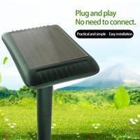 Solar Ultrasonic Electronic Dog Garden Sensor Animal Mouse Pest Repeller Ultrasonic high frequency effectively With ABS resin