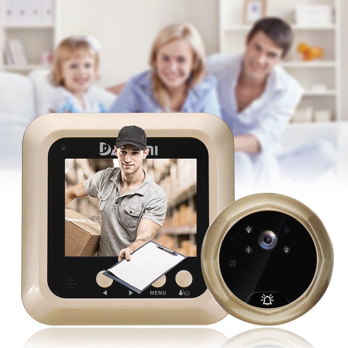 security door bell wireless doorbell video camera pir night vision intercom home hd screen. Black Bedroom Furniture Sets. Home Design Ideas