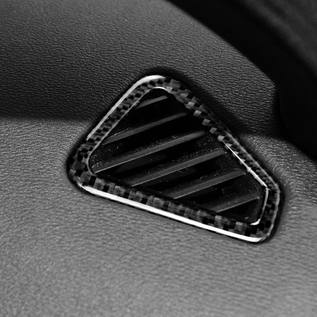 BMW X5 X6 F15 F16 2014 2015 2016 2017 2pcs 탄소 섬유 자동차 에어 컨디션 에어 벤트 아웃렛 커버