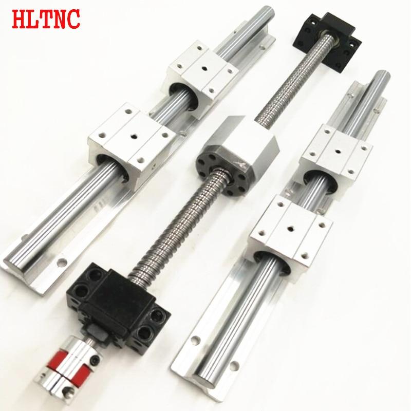 6 Sets Linear Rail SBR16 L250/600/800mm+SFU1605-250/600/800mm Ball Screw+ End Support BK12/BF12+3 Nut Housing DSG16H For Cnc