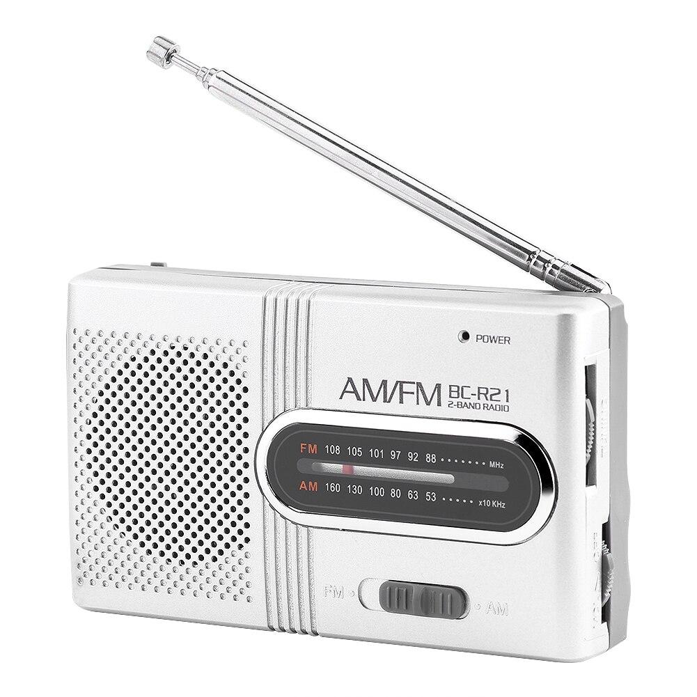 SOONHUA Universal Portable FM Radio Receiver Support Radio FM AM Radio Mini Multi-function Stereo Music Player Speaker Radio