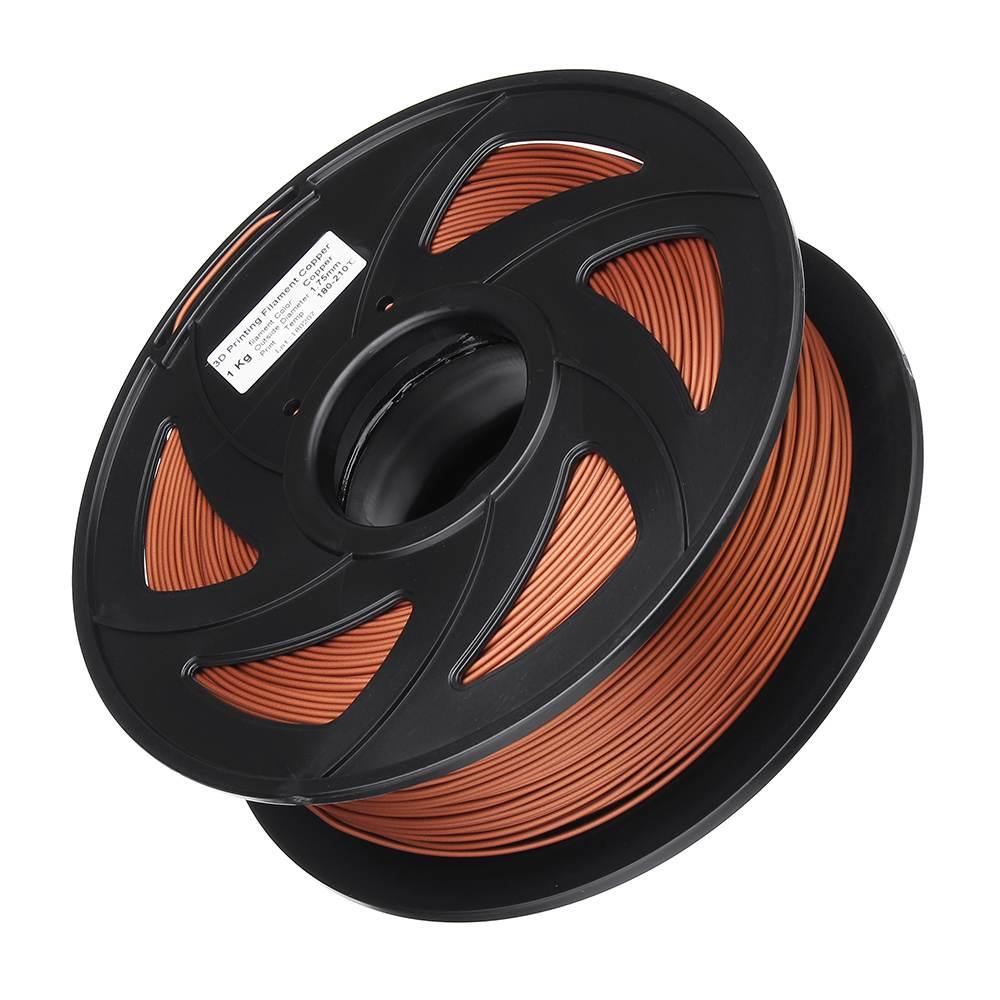 3D Imprimante Matériel Filament 1.75mm 1 KG Impression En Plastique Matériel Fournitures Rouleau poudre de cuivre PLA Filament Flexible