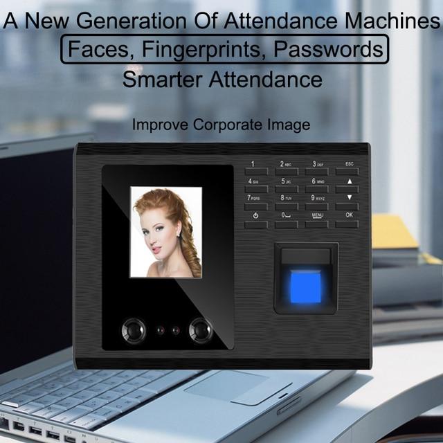 US $107 44 32% OFF|Fingerprint Biometric Face Facial Recognition Attendance  System USB Fingerprint Reader Time Clock Employee Attendance Machine -in